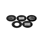 Elinchrom Set mit 5 Gobos 53mm für Minispot
