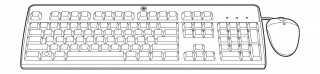 HP BFR mit PVC Free Kit Tastatur- und Mouse Set, USB, Deutsch