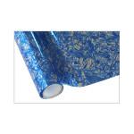 ONE Heissprägefolie - Floral Blue - Texturfarbe - 30 cm x 12 m
