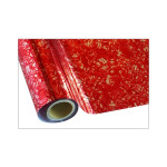 ONE Heissprägefolie - Floral Red - Texturfarbe - 30 cm x 12 m