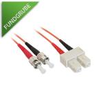 LWL-Kabel SC/ST Stecker, 50/125µm Faser, Duplex, 3m