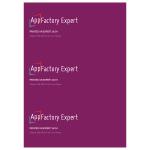 AppFactory Expert PET Film, weiss matt, TH, 260 g/qm, A4, 100 Bla
