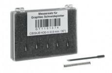 Graphtec Stahlmesser 0,9mm 30° für kleine Schriften