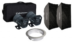 Elinchrom Bundle: ELC 125/125 TTL & Softbox Kit & Snaplux Adapter