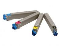 OKI Toner Rainbow-Kit für Oki C9600/C9650/C9800/9850/C9800MFP/..