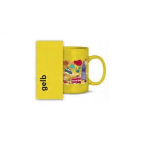 Keramiktasse gelb für Tonertransfer - 36 Stk./Karton
