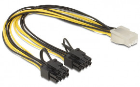 Delock Kabel Power PCIe 6-pin/2x8-pin Buchse/Stecker 30cm
