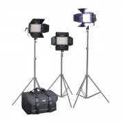 Cineroid 3er Set Bi-Color LED Field Light LM400-VCDS