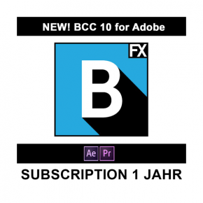 Boris FX BCC 10 für Adobe Subscription 1 Jahr