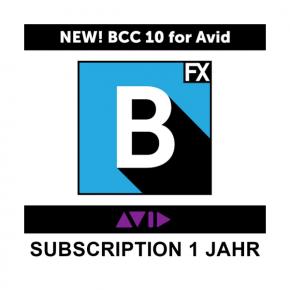 Boris FX BCC 10 für Avid Subscription 1 Jahr