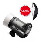 Elinchrom BRX 250 inkl. Gratis Reflektor & Schirm Set