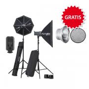 Elinchrom D-Lite RX 1/1 to go Set inkl. GRATIS 1 Reflektor Waben-