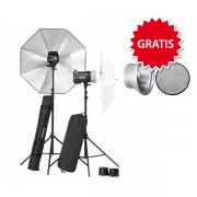 Elinchrom BRX 250/250 Umbrella to go Set inkl. GRATIS 1 Reflektor